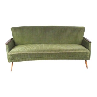 Vintage Modern Sculpted Back Sofa