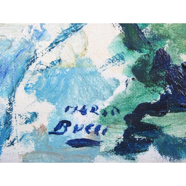 Vintage Mid-Century Mario Bucci Italian Modernist Still Life Painting For Sale - Image 4 of 7