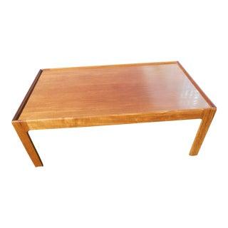 1960s Mid-Century Danish Modern Teak Coffee Table For Sale