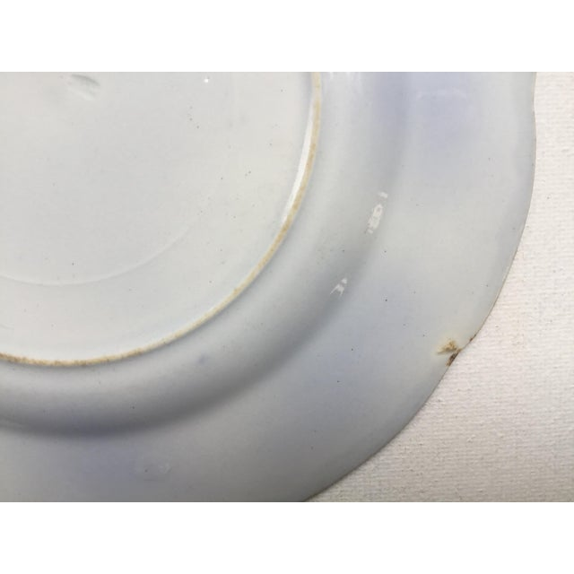 """Blue Jonson Bros England """"Holland"""" Flow Blue Plates - a Pair For Sale - Image 8 of 13"""