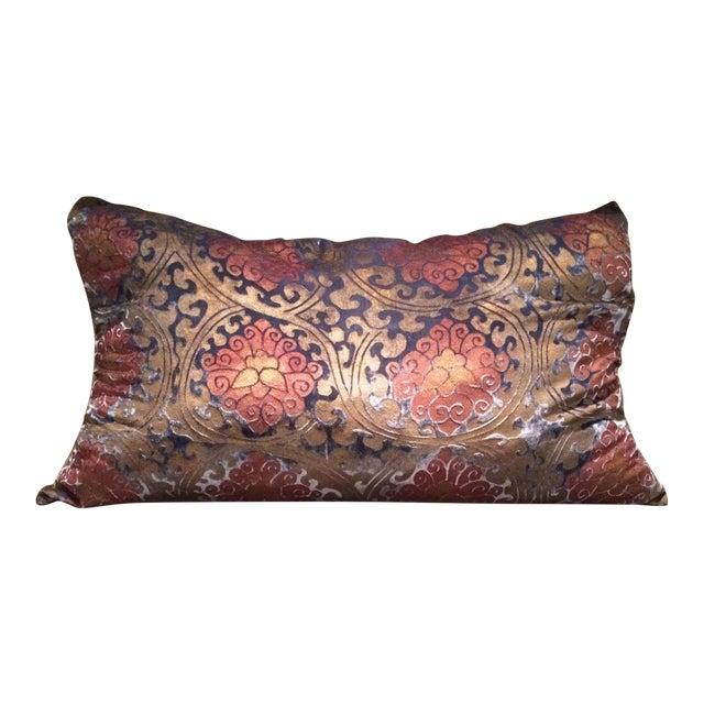Buddhist Lotus Silk Velvet Pillow Cover For Sale