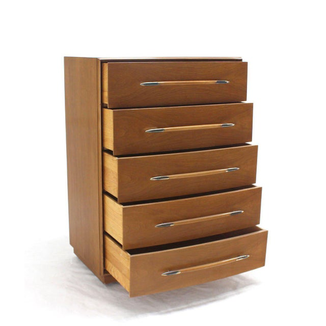 John Widdicomb Gibbings for Widdicomb High Chest of Drawers For Sale - Image 4 of 7