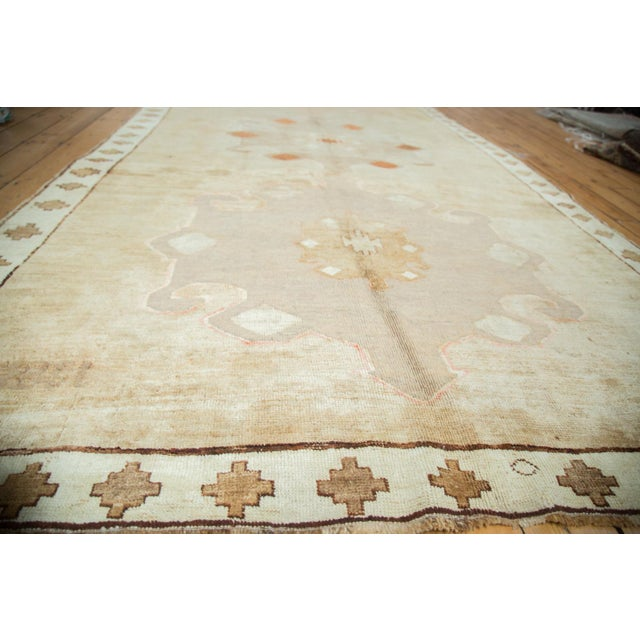 "Islamic Vintage Oushak Rug Runner - 6'3"" X 12'5"" For Sale - Image 3 of 10"