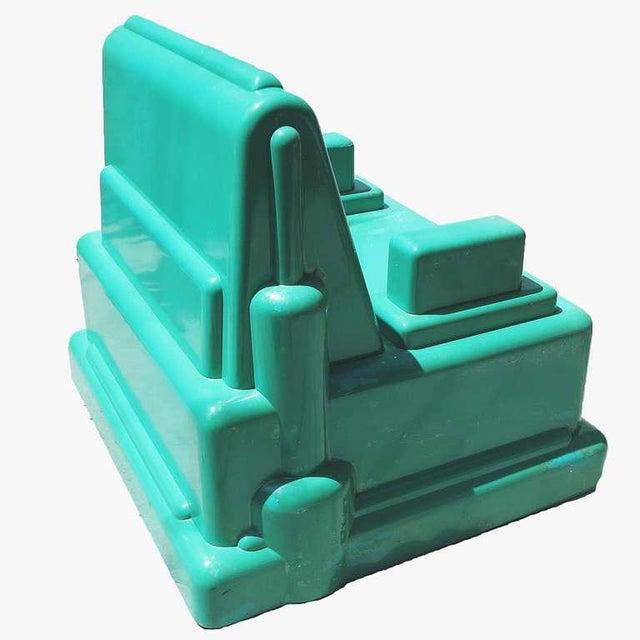 "Mid-Century Modern Marco Zanini ""Roma"" Fiberglass Chair for Memphis For Sale - Image 3 of 7"