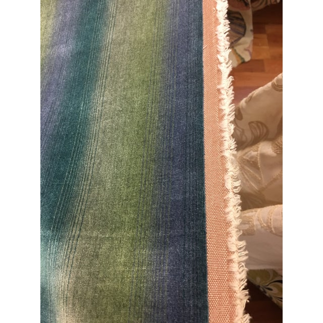 "Aqua Marine Absolutely Gorgeous velvet that is no longer available and discontinued Brunschwig & Fils. 54"" bolt of 1st..."