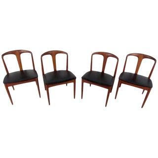 Four Mid-Century Teak Dining Chairs by Vamo Sonderborg For Sale