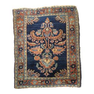 Blue Persian Sarouk Rug Mat, 1'9'' x 2'3''