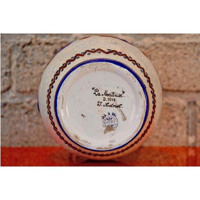 Ceramic 1920s Jacques Adnet Glazed Vase For Sale - Image 7 of 7