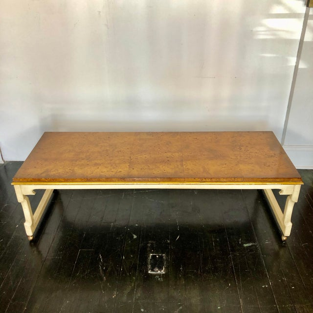 Tomelinson Burled Wood Coffee Table For Sale - Image 11 of 11