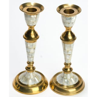 Hand Wrought Brass & Mother of Pearl Table Set Preview