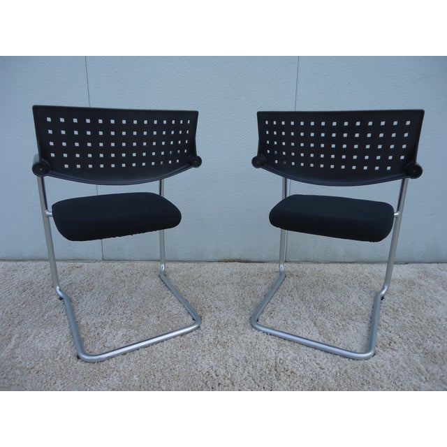 Modern Antonio Citterio for Vitra Visasoft Visavis Guest and Conference Chairs- Set of 6 For Sale - Image 9 of 13