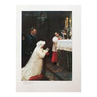 "1985 Pablo Picasso, ""The First Communion"" Original Parisian Photogravure For Sale"