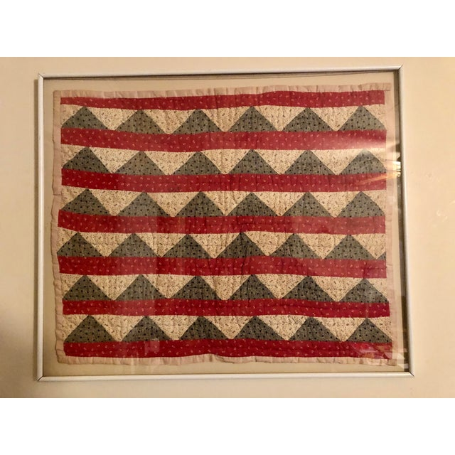 Early 20th Century Framed Doll Quilt For Sale - Image 13 of 13
