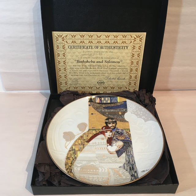 Bathsheba and Solomon Knowles China Plate For Sale - Image 5 of 7