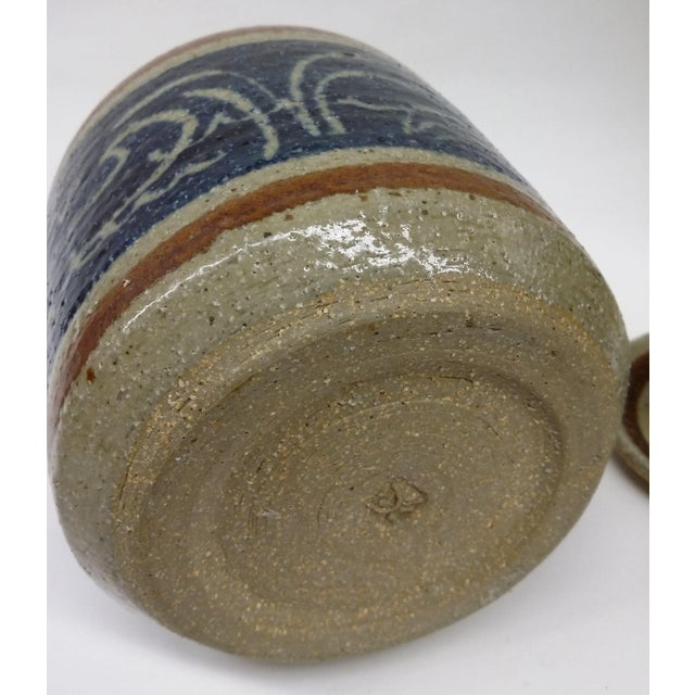 Hand Turned Pottery Wild Rice Container For Sale In Boston - Image 6 of 11