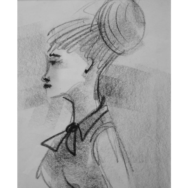 Mid-Century Figurative Drawing - Image 2 of 3