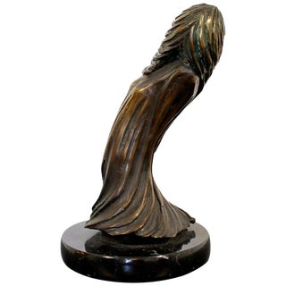 Contemporary Modern Surrealist Tom Bennett Signed Bronze Marble Sculpture For Sale