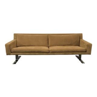 Vintage Mid-Century Modern Erik Ole Jorgensen for Dux Suede Sofa For Sale