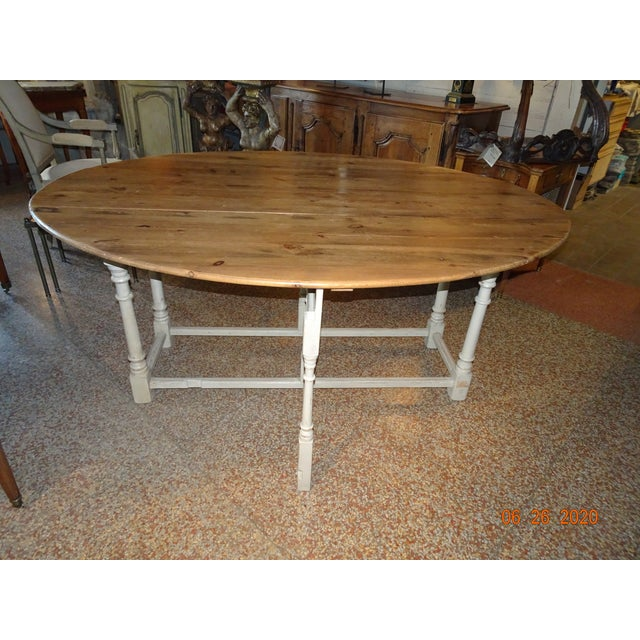 19th Century Swedish Peach Pine Dining Table For Sale - Image 13 of 13