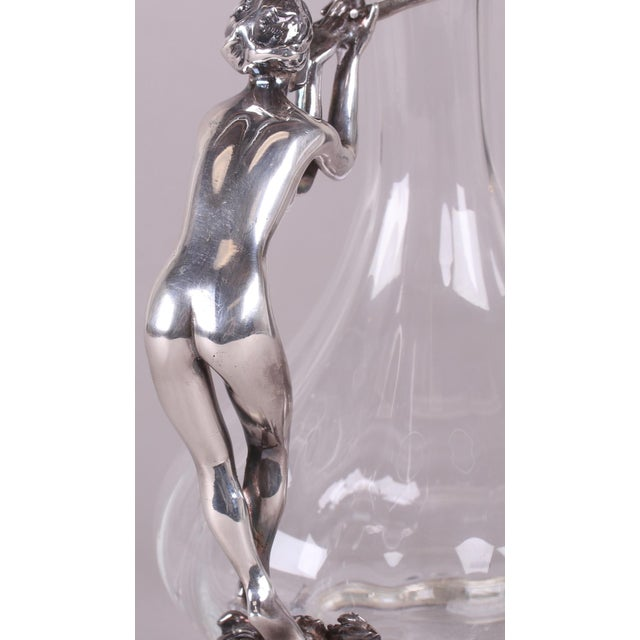 Metal Art Nouveau-Style Ewer For Sale - Image 7 of 13
