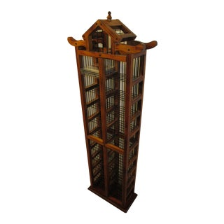 Asian Pagoda Shaped 200-Piece CD Organizer Shelf For Sale