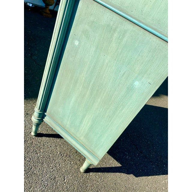 Lewis Mittman Blue Painted Louis XVI Style Armoire For Sale - Image 12 of 13