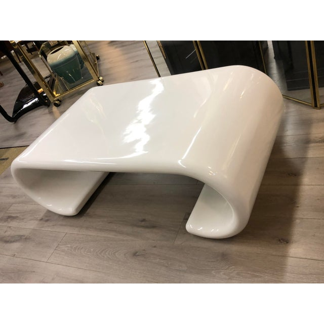 1990s Waterfall Coffee Table For Sale - Image 5 of 5