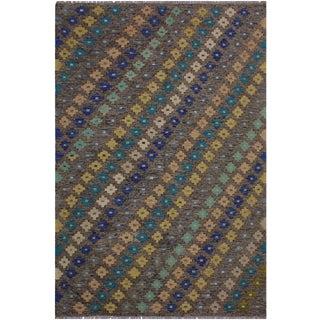 Kilim Bobby Hand-Woven Wool Rug - 5′10″ × 8′ For Sale