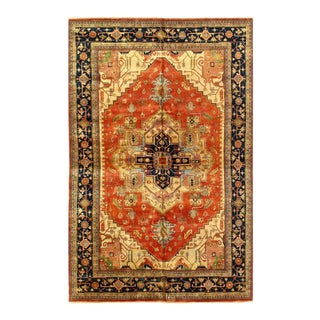 Pasargad Rust Fine Hand-Knotted Serapi Design Rug- 12' X 18' For Sale