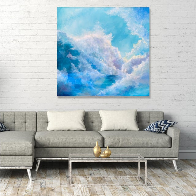 """2010s Christine Elise """"The Meaning of a Day"""" Contemporary Sky and Clouds Oil Painting For Sale - Image 5 of 6"""