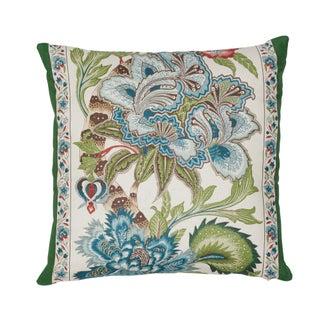 Contemporary Schumacher X Timothy Corrigan Anjou Stripe Pillow in Emerald Preview