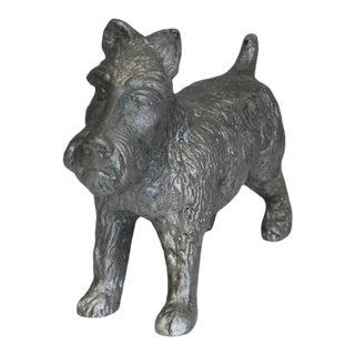 Vintage Cast Iron Scottish Terrier Doorstop For Sale