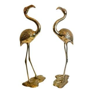 Brass Flamingos - a Pair