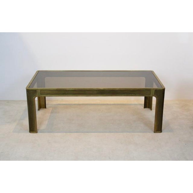 Peter Ghyczy Style Brass and Glass Coffee table - Image 8 of 8