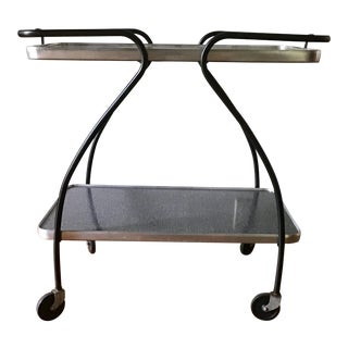 Vintage Mid Century Modern Drink Cart For Sale