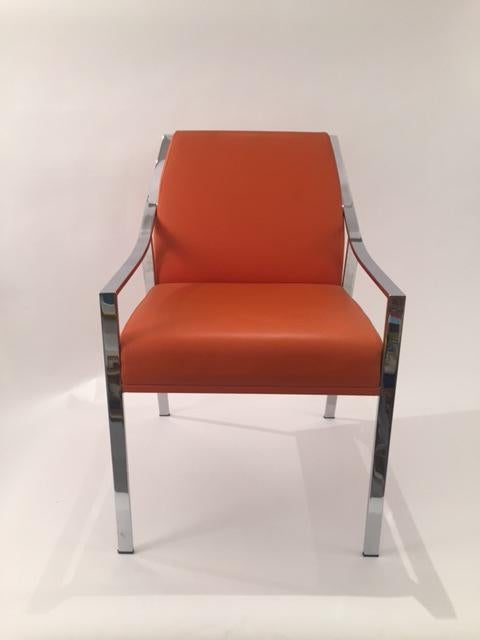 Mid Century Modern Holly Hunt Aileron Dining Arm Chair For Sale   Image 3 Of