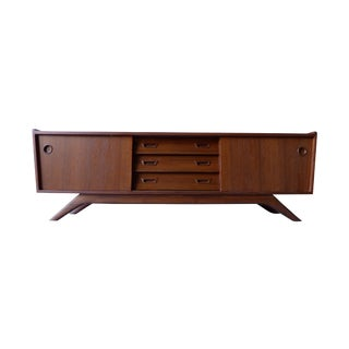 Low Mid Century Modern Media Stand Credenza For Sale