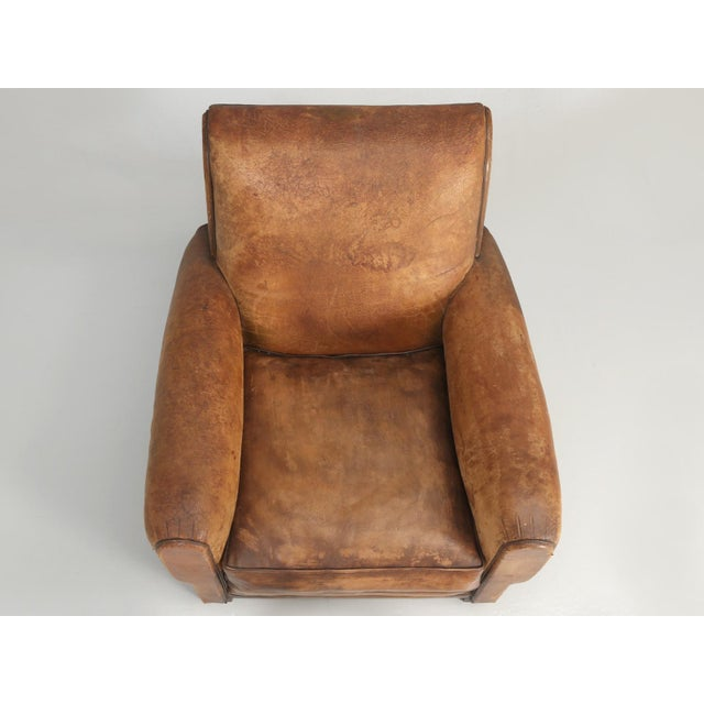 French Art Deco Club Chair Carefully Restored For Sale - Image 9 of 13