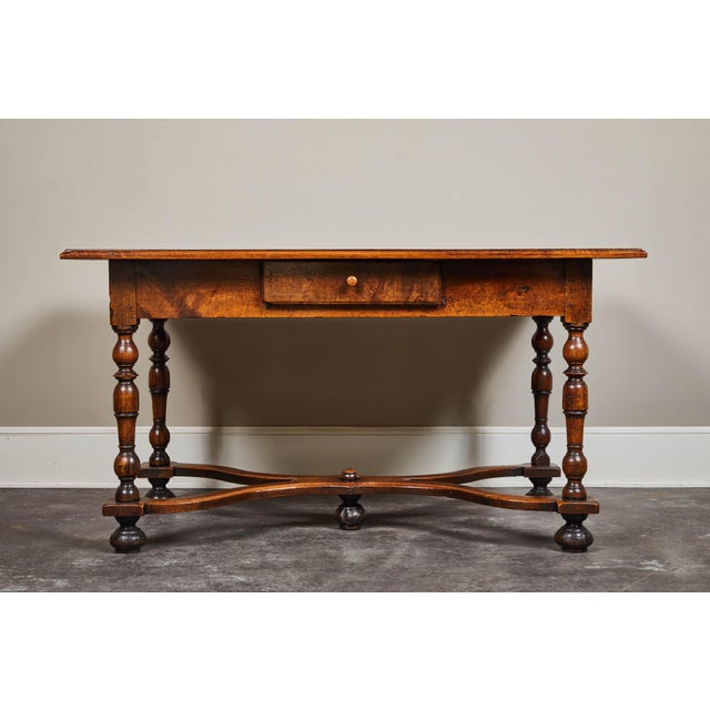 18th C. Louis XIII Walnut Library Table For Sale - Image 10 of 10