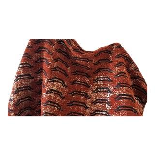 Virginia Kraft Bagha Fabric, Sample in Henna For Sale