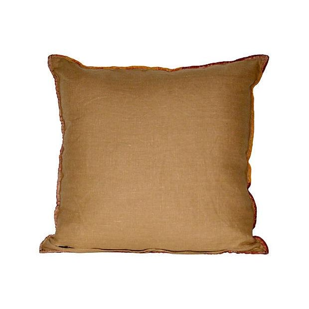 Asian Indian Banjara Embroidery Pillow For Sale - Image 3 of 3