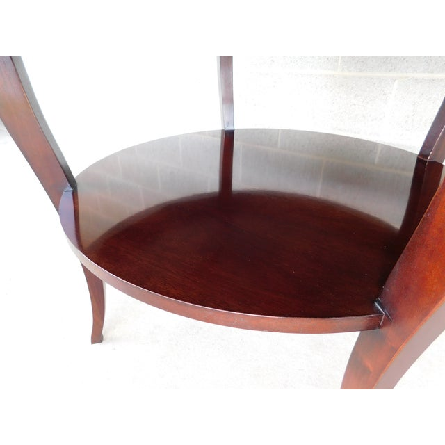 "Baker Barbara Barry Collection Mahogany Center Table 37""w For Sale In Philadelphia - Image 6 of 9"