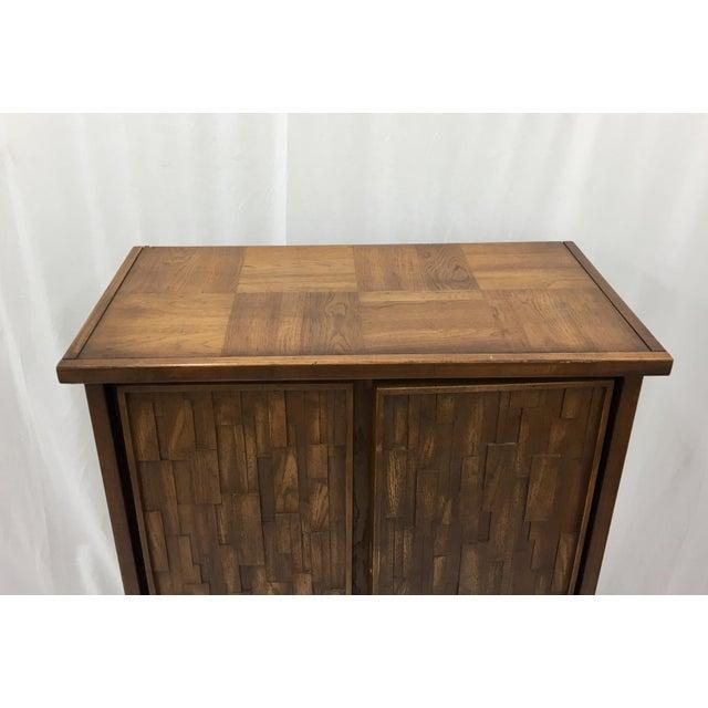 Vintage Mid-Century Brutalist Armoire Dresser - Image 5 of 8