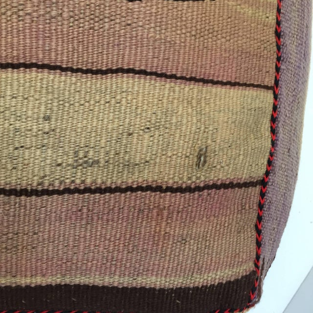Vintage Mid Century Moroccan Tribal Floor Pillow Seat Cushion For Sale - Image 4 of 13