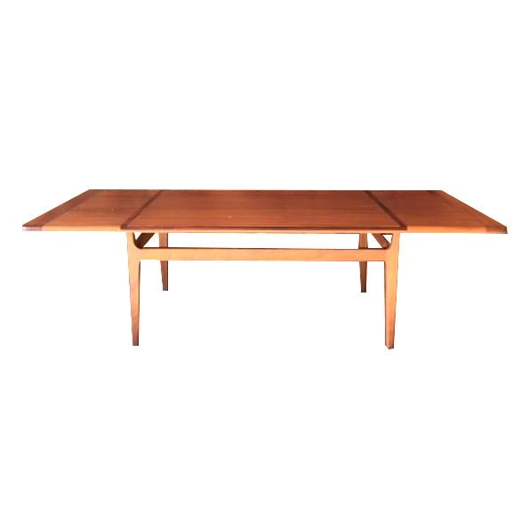 Mid-Century Danish Walnut Rosewood Coffee Table - Image 1 of 6