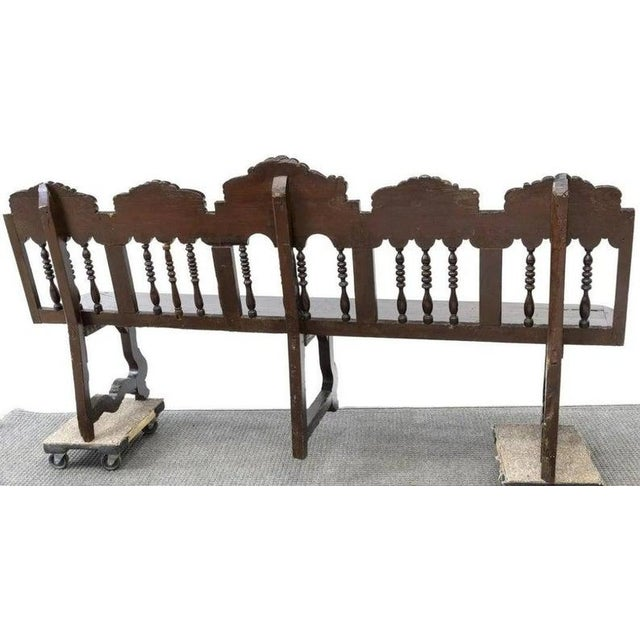 Rustic European 18th Century Rustic Spanish Long Bench For Sale - Image 3 of 5