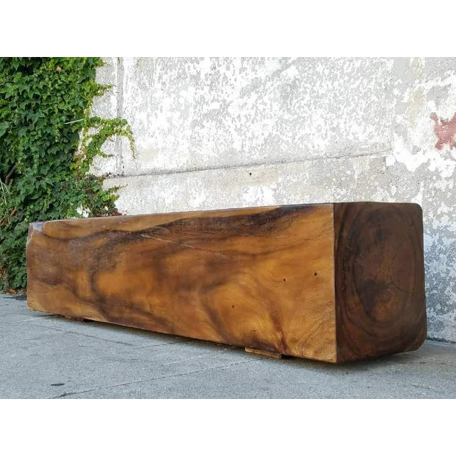 1970s Vintage Solid Rosewood Bench For Sale - Image 5 of 5