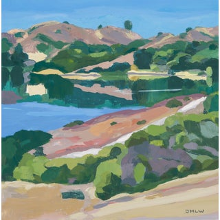 """Crystal Springs Reflections #1"" Original Landscape Painting by Jenny Wantuch For Sale"