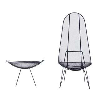 Sol Bloom Scoop Chair and Catch-All - a Pair For Sale