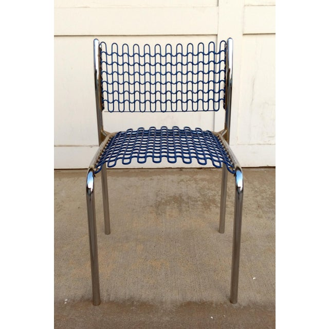 Blue Thonet Sof-Tech Side Chairs by David Rowland - Set of 6 For Sale - Image 8 of 11